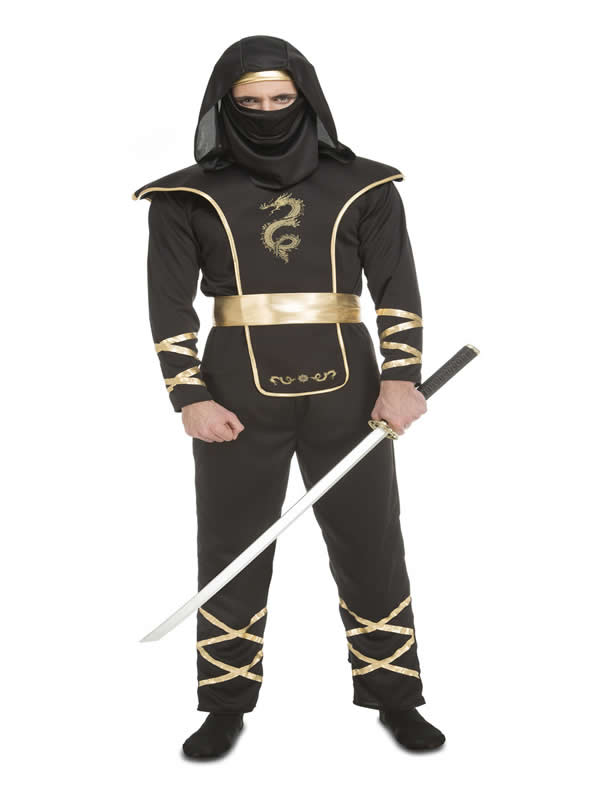 disfraz de ninja negro para hombre