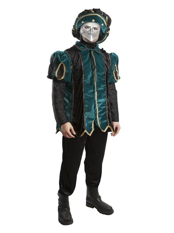 disfraz de noble epoca verde para hombre