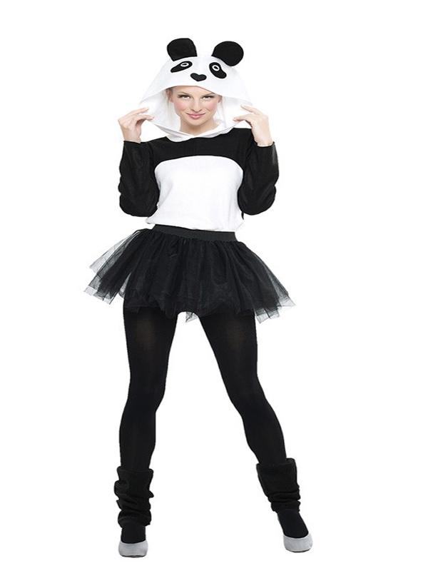 disfraz de osos panda con tutu mujer sera el animal más mimoso y encima irás más