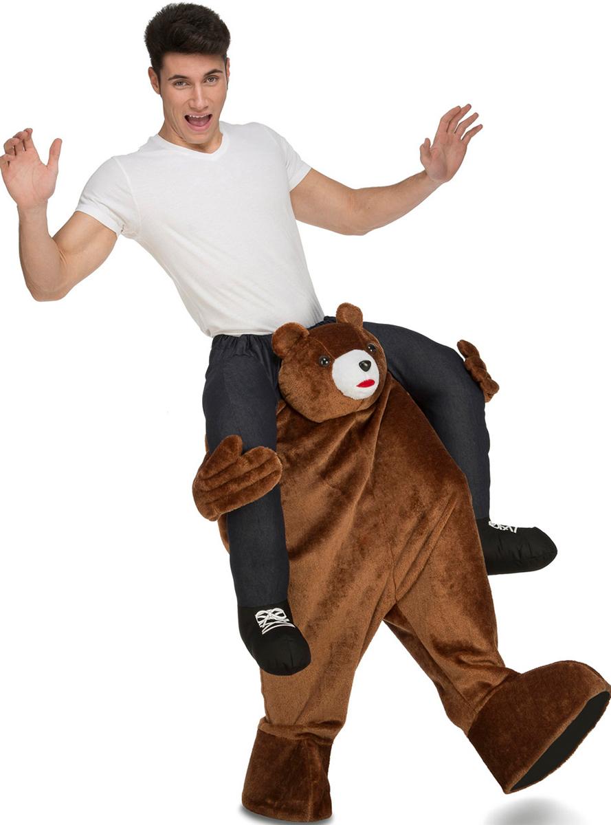 disfraz de oso pardo a hombros para adulto