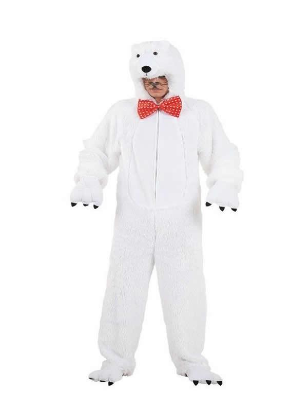 disfraz de oso polar adulto