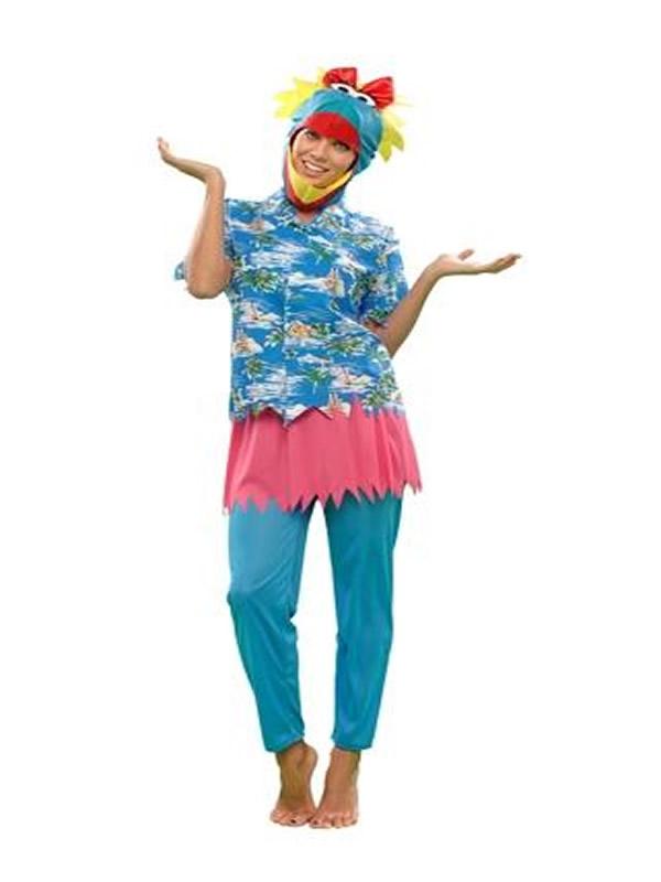 disfraz de pajara hawaiana para mujer