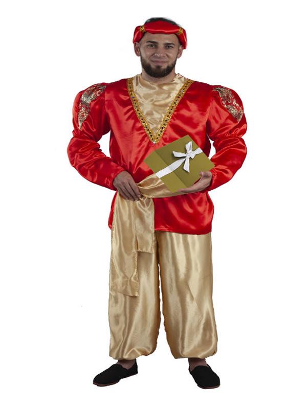 disfraz de paje real rojo adulto