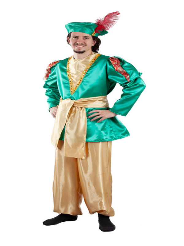 disfraz de paje real verde adulto