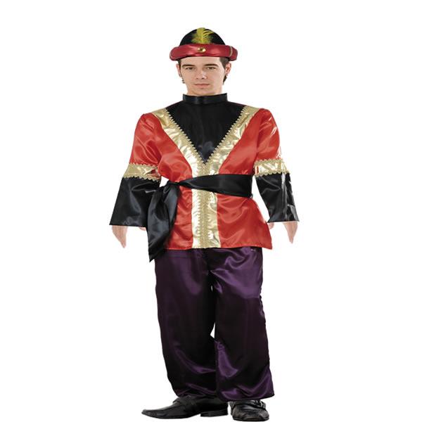 disfraz de paje rojo hombre adulto