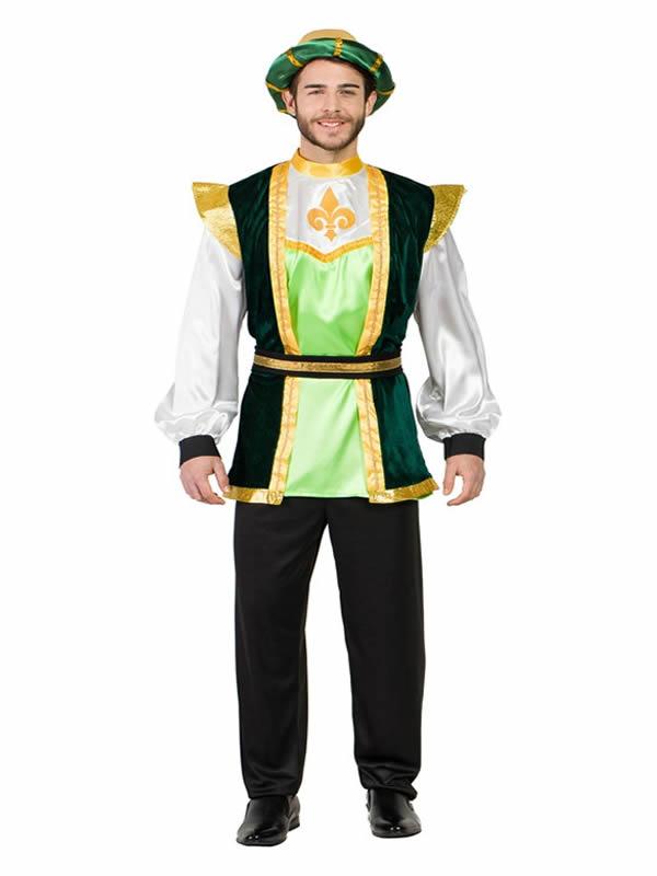 disfraz de paje verde para hombre k5639 - Ideas de disfraces originales adultos para navidad