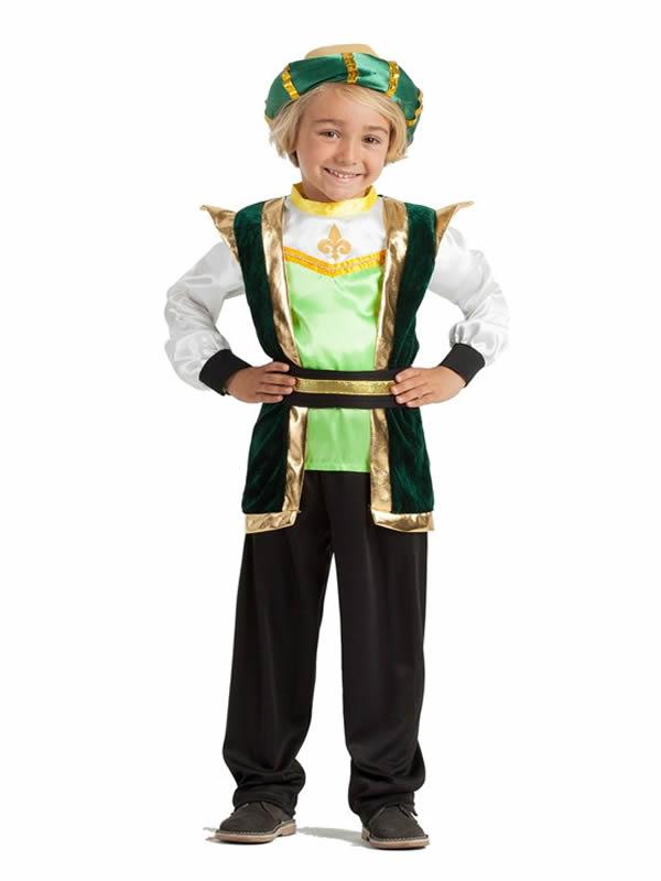 disfraz de paje verde para niño