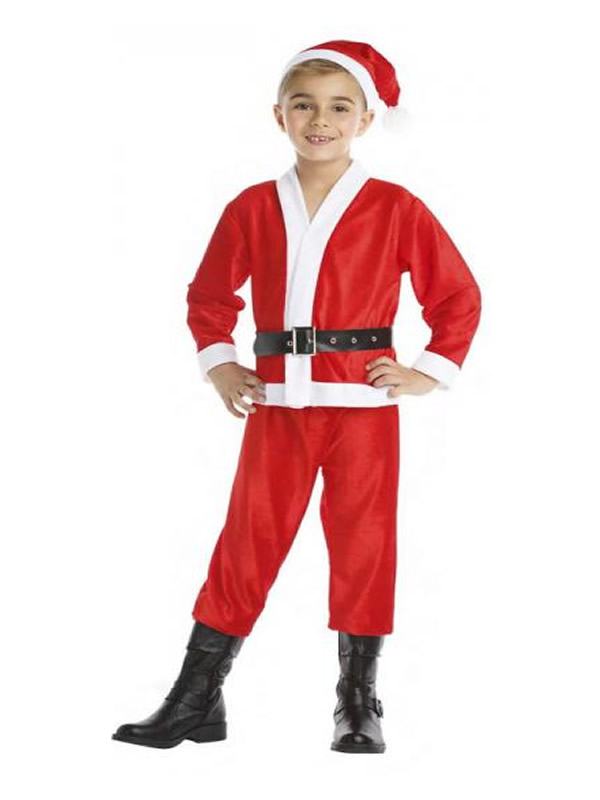 disfraz de papa noel barato niño
