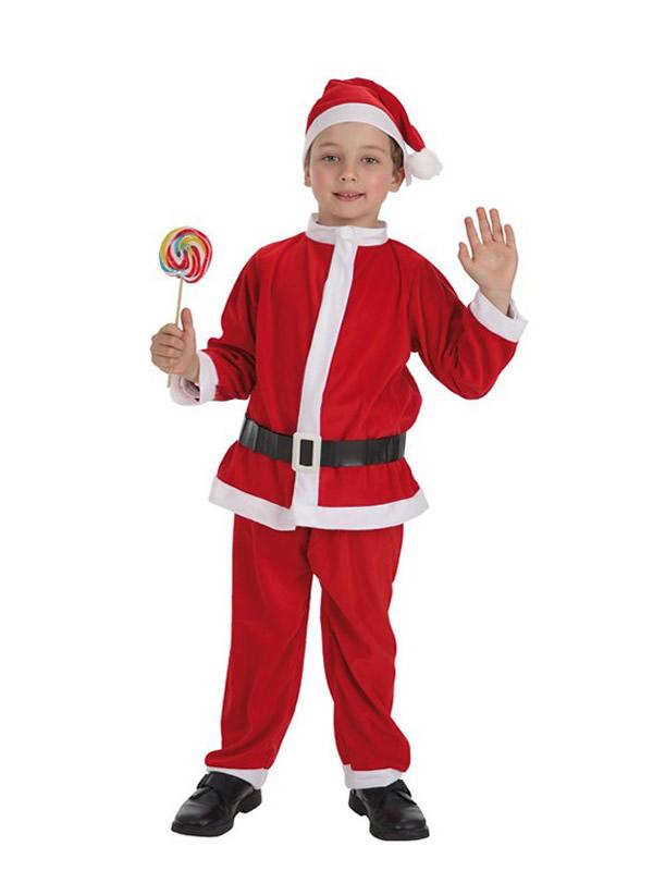 disfraz de papa noel economico para niño
