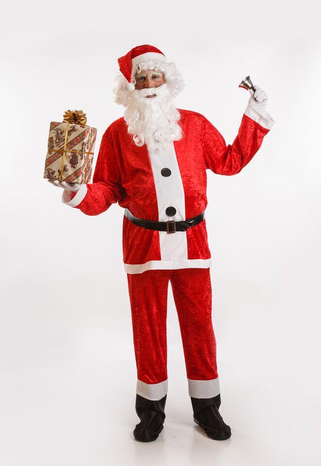 disfraz de papa noel lujo para hombre adulto talla ml pr91065 - Disfraces para tus fiestas navideñas