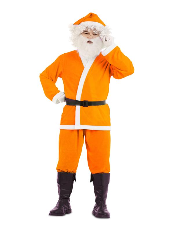 disfraz de papa noel naranja para hombre