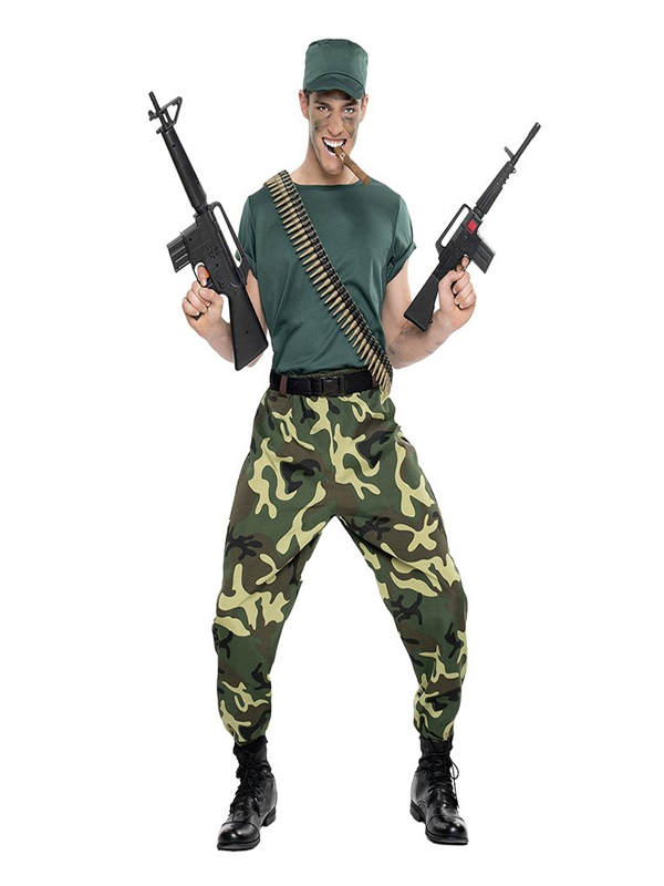 disfraz de paramilitar para hombre