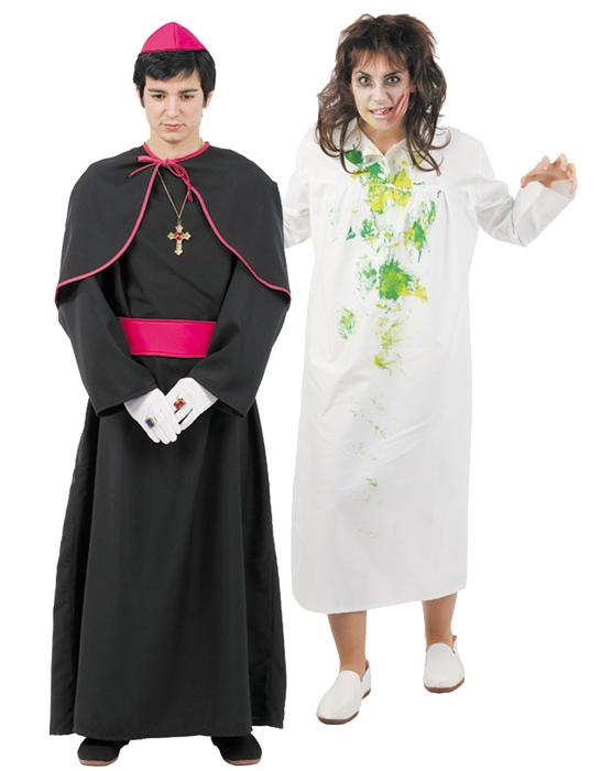 Disfraz de pareja exorcista hombre y mujer comprar barato for Disfraces parejas adultos