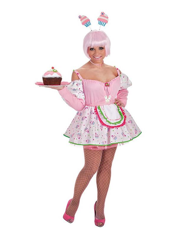 disfraz de pastelera cupcake para mujer