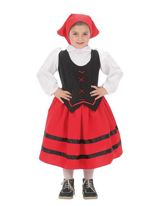 disfraz de pastorcilla aldeana para niña