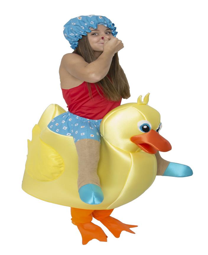 disfraz de pato de goma con ba%C3%B1ista mujer ri388 - Los 10 mejores Disfraces de Animales para tu Fiestas