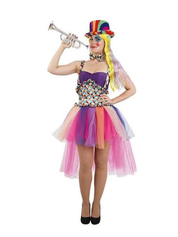 disfraz de payasa arlequina mujer