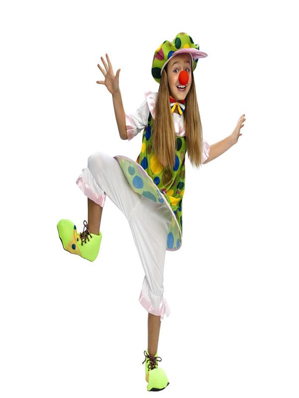 disfraz de payasa aro para niña