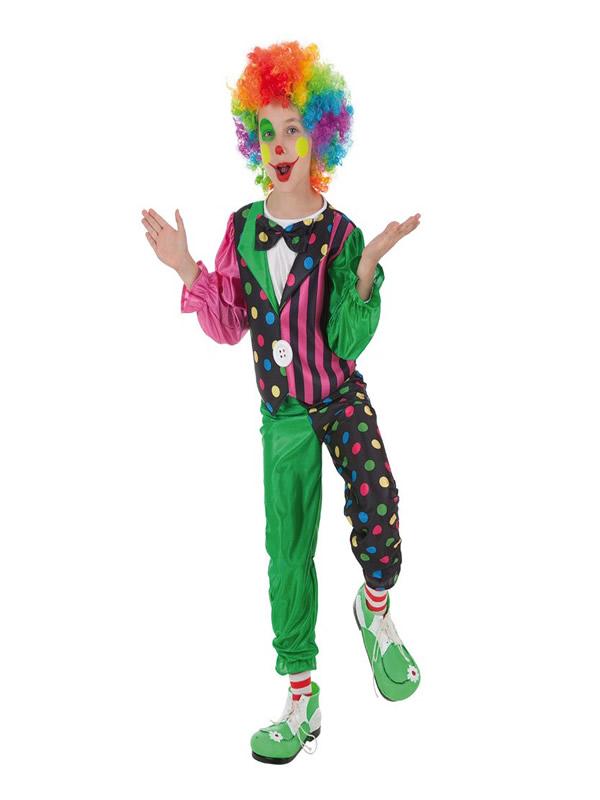 disfraz de payasito a rayas para niño