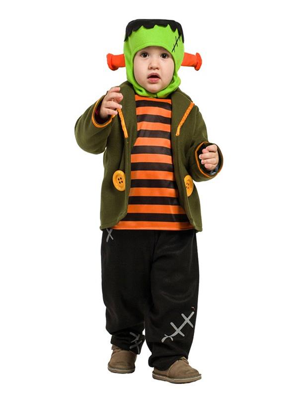 disfraz de pequeño frankenstein bebe
