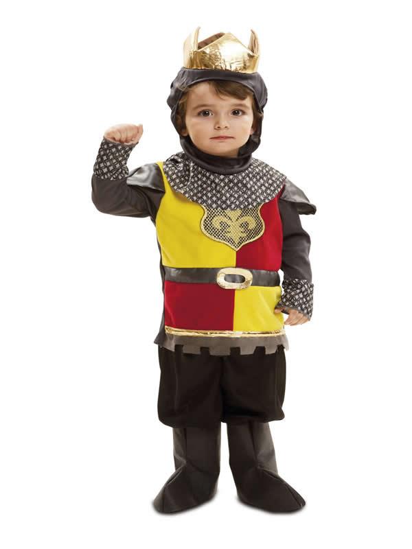 disfraz de pequeño rey medieval bebe