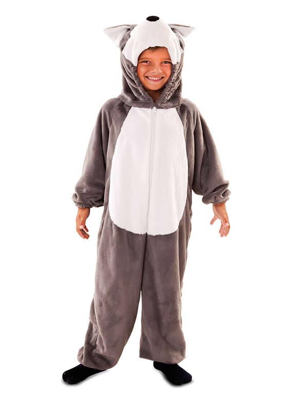 disfraz de perro husky infantil