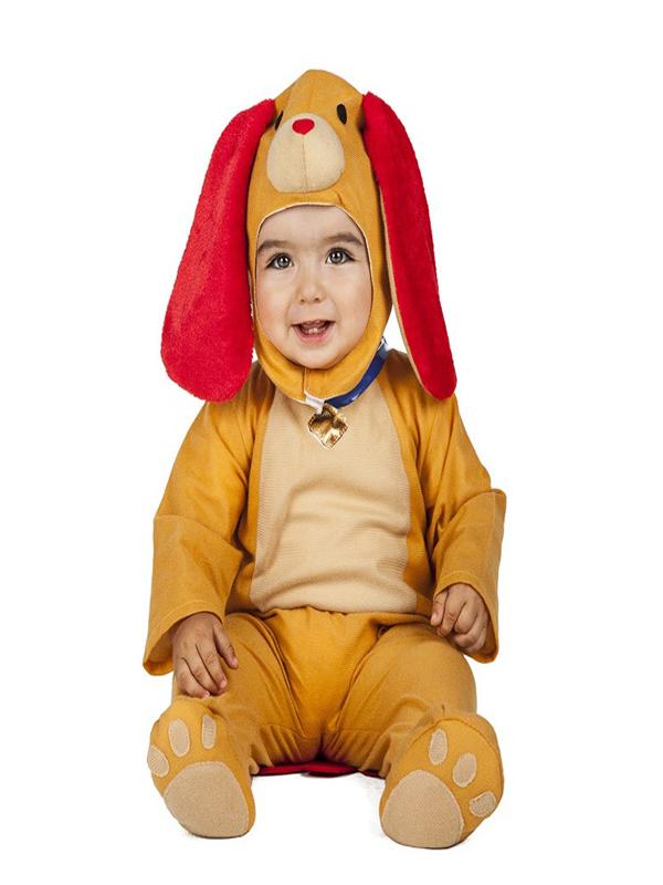 disfraz de perro naranja bebe
