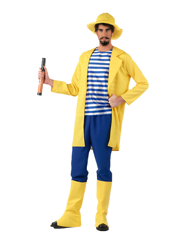 disfraz de pescador divertido hombre