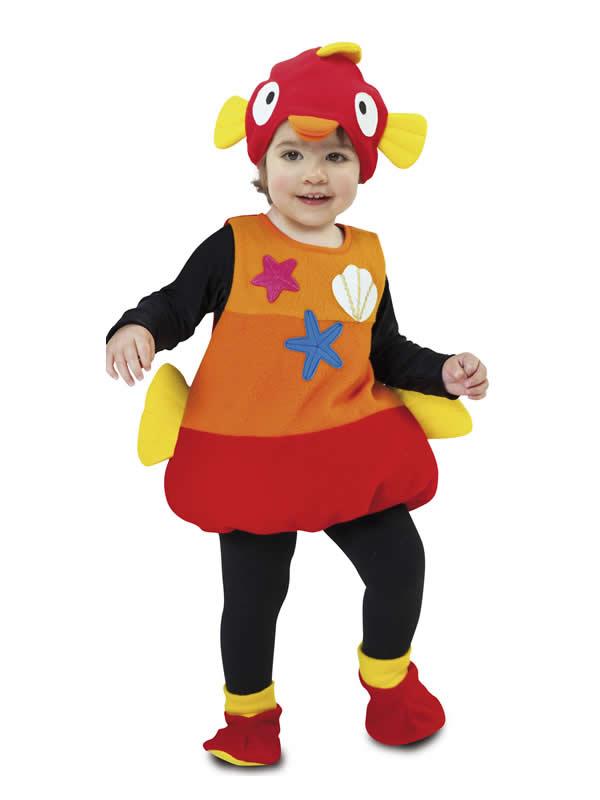 disfraz de pez colorido infantil