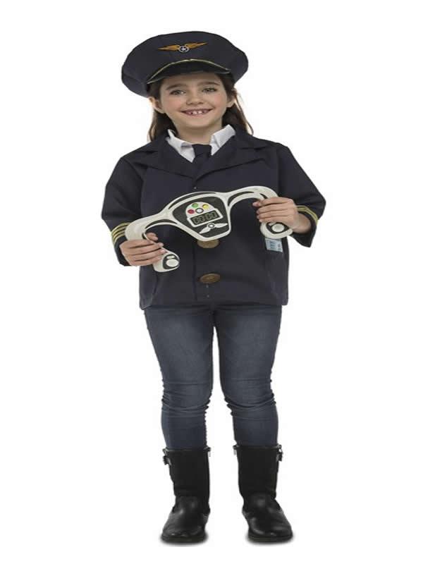 disfraz de piloto con accesorios para niños
