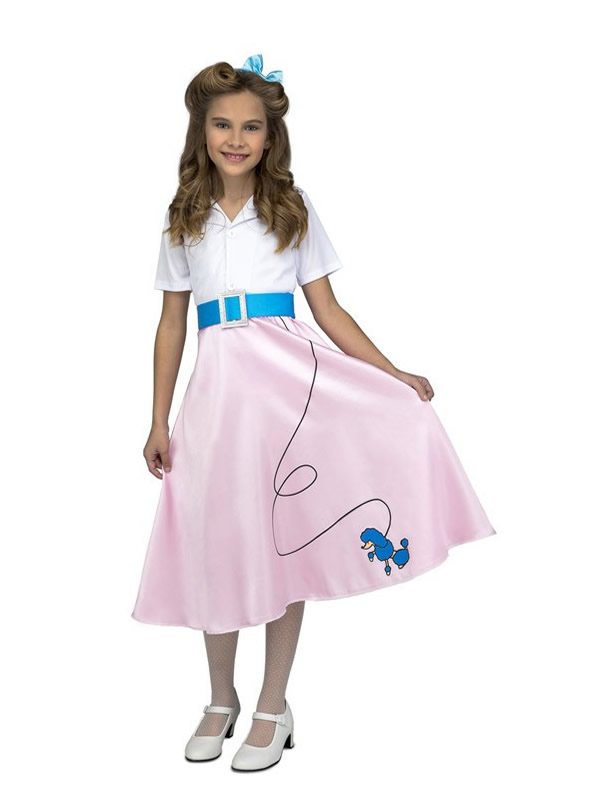 disfraz de pink lady rosa para niña