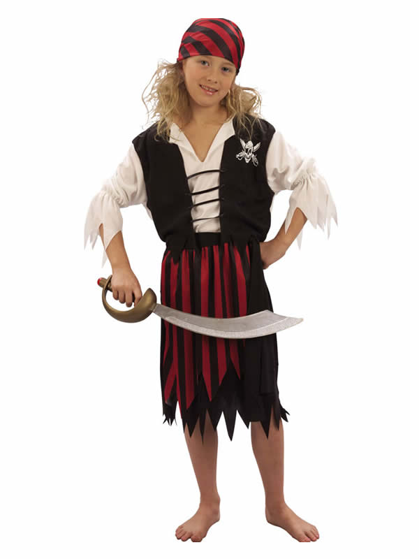 disfraz de pirata barato niña
