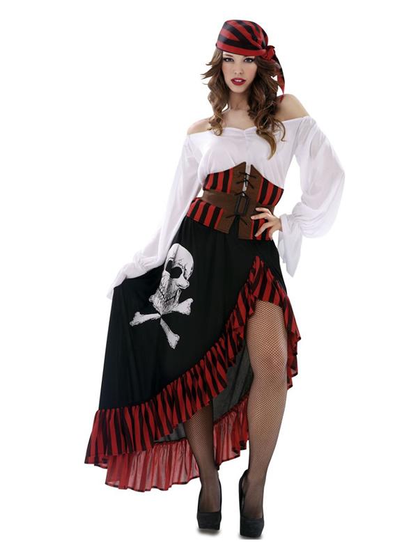 disfraz de pirata calavera para mujer