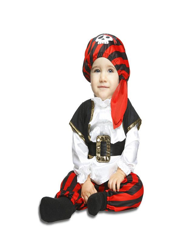 disfraz de pirata calaveras para bebe