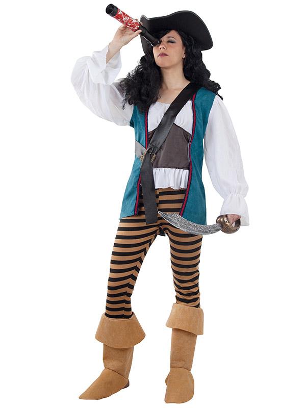 disfraz de pirata caribeña mujer