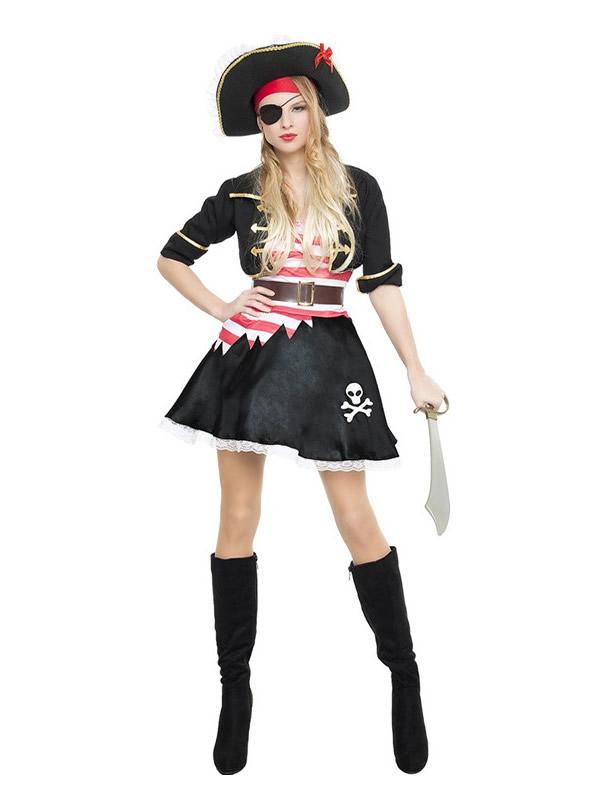 disfraz de pirata corsaria negra mujer