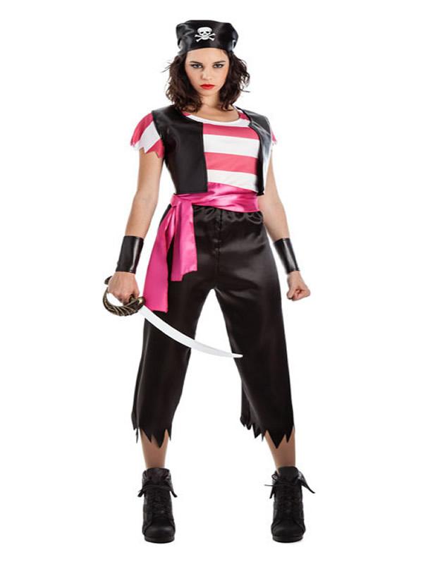disfraz de pirata chaleco mujer K0156 - Novedades en disfraces para este carnaval