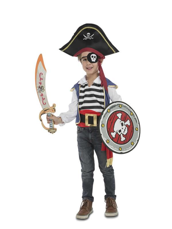 disfraz de pirata con accesorios para niños