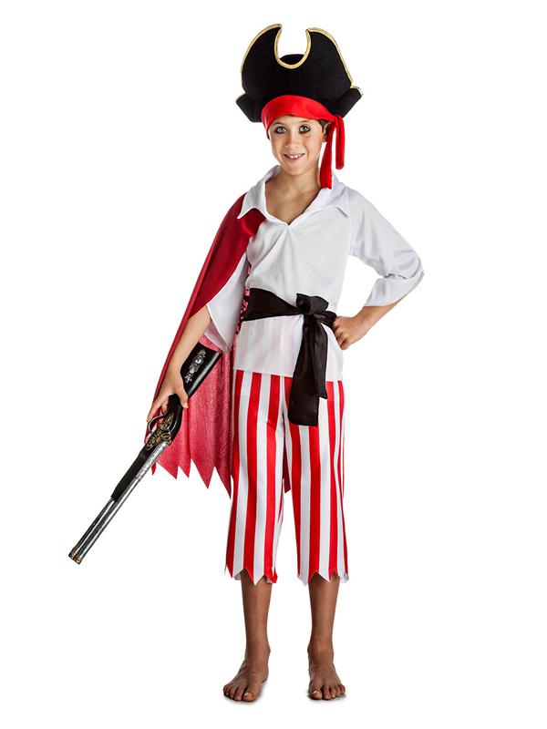 disfraz de pirata con capa niño