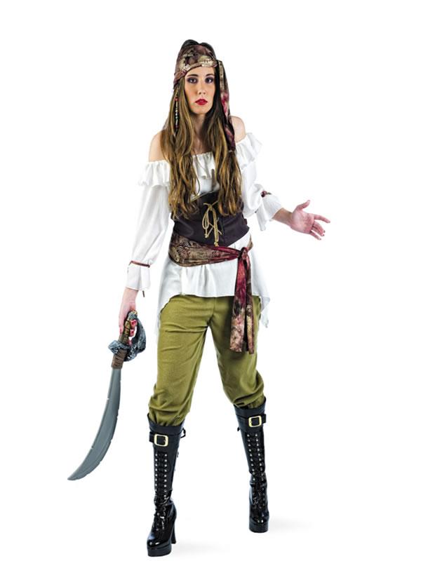 disfraz de pirata del caribe deluxe mujerli107 - Disfraces de Carnaval adultos ¿Cuáles son las mejores ideas?