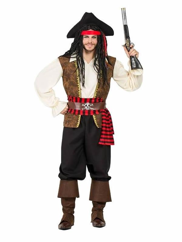 disfraz de pirata deluxe hombre K5350 - Grandes ideas de disfraces de parejas para el carnaval.