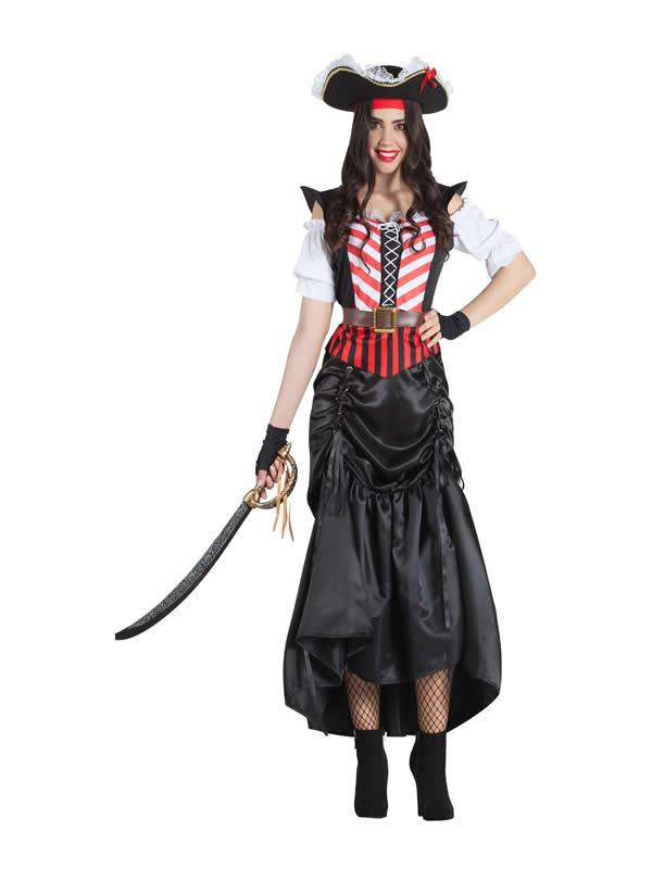 disfraz de pirata falda para mujer