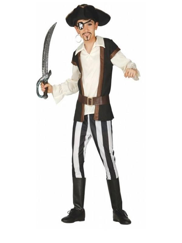 disfraz de pirata marron niño