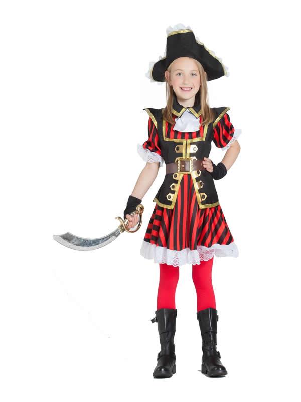 disfraz de pirata niña con rayas