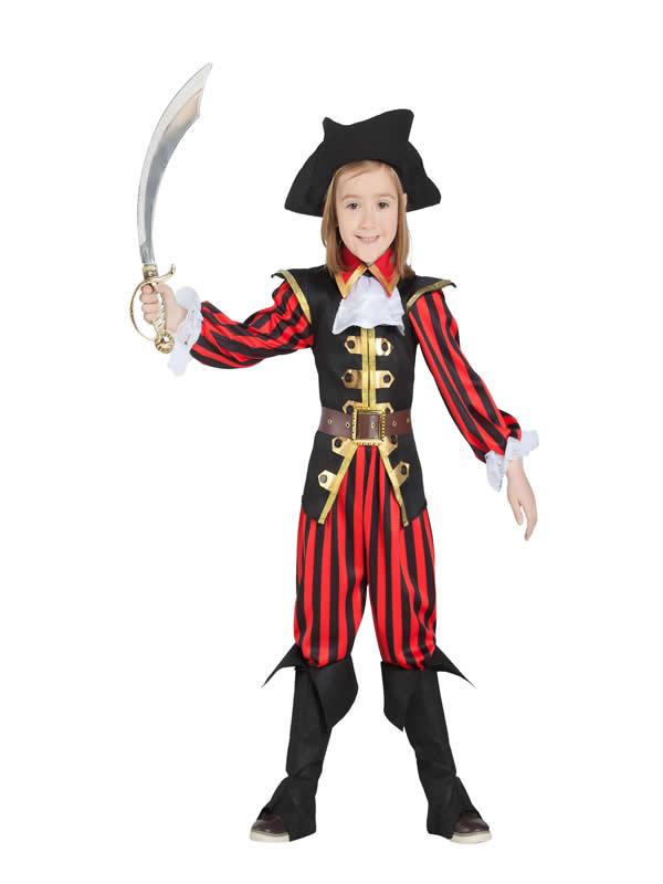 disfraz de pirata niño con rayas