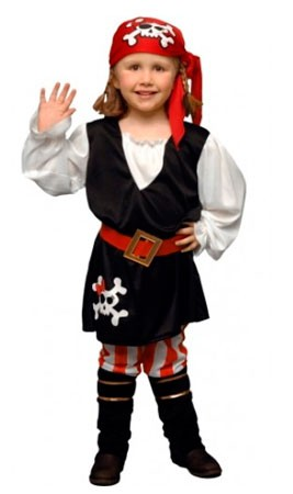 disfraz de pirata rayas niña