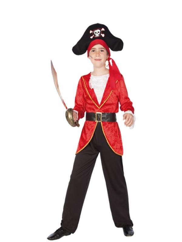 disfraz de pirata rojo para nio