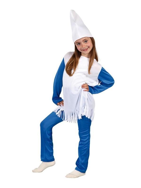 disfraz de pitufa azul nina gui81557 - ¿Como hacer una fiesta de pitufos?