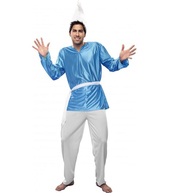 disfraz de pitufo azul hombre