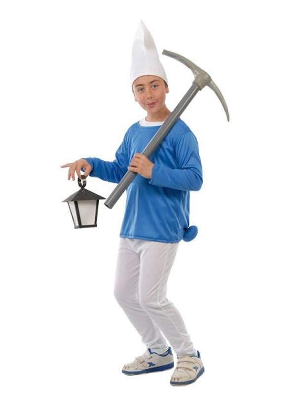 disfraz de pitufo trabajador niño